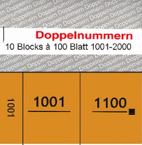 Doppelnummern 1001 - 2000 orange