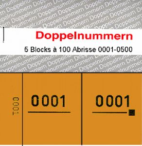 Doppelnummern 0001 - 0500 orange